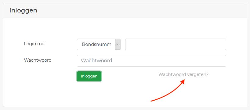 nieuw wachtwoord - website
